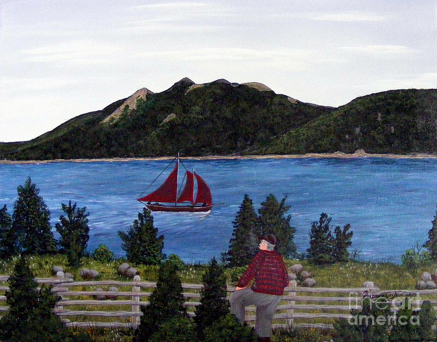 Ship Painting - Fishing Schooner by Barbara Griffin