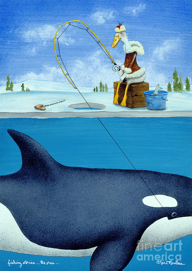 Bullis Painting - Fishing Stories ... The Orca .. by Will Bullas