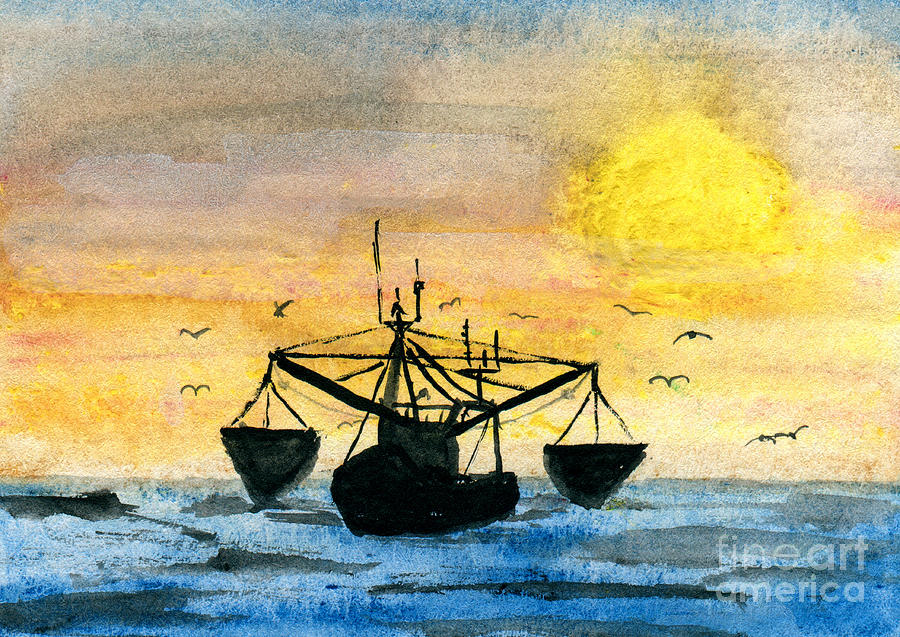 Fishing Tackle Painting by R Kyllo