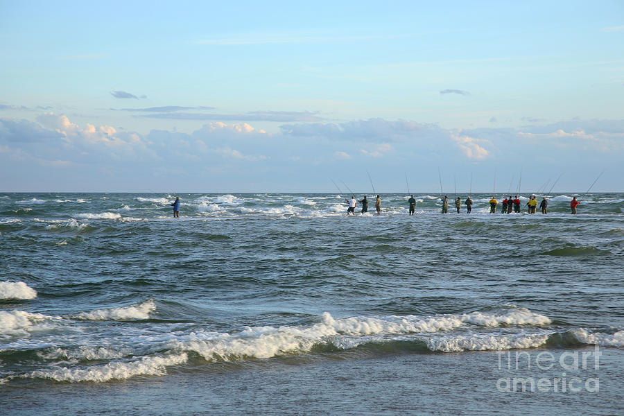 Active Photograph - Fishing The Point At Cape Hatteras by Suzi Nelson
