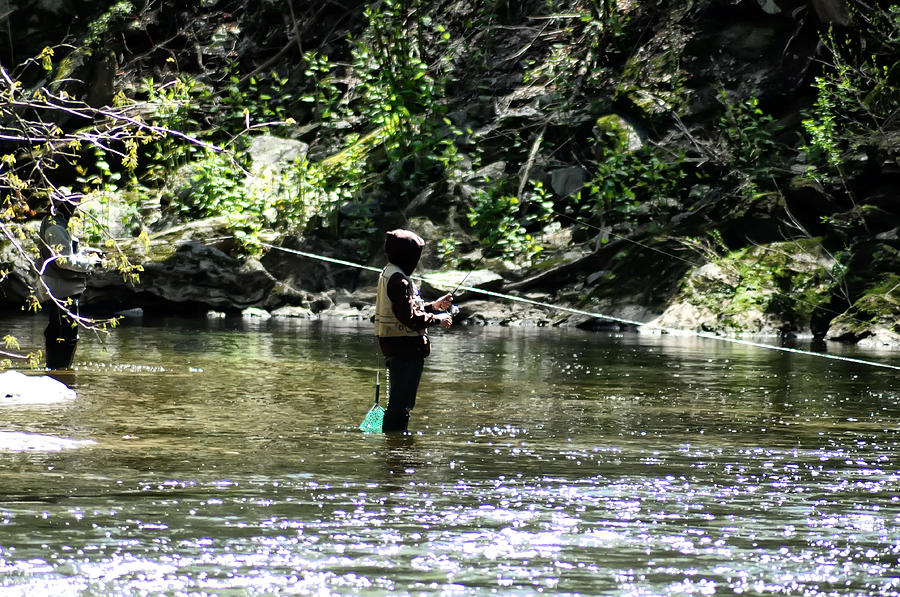 Fishing Photograph - Fishing The Wissahickon by Bill Cannon