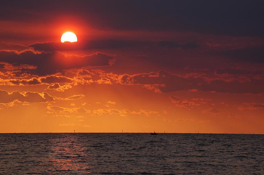 Alabama Digital Art - Fishing Till The Sun Goes Down by Michael Thomas