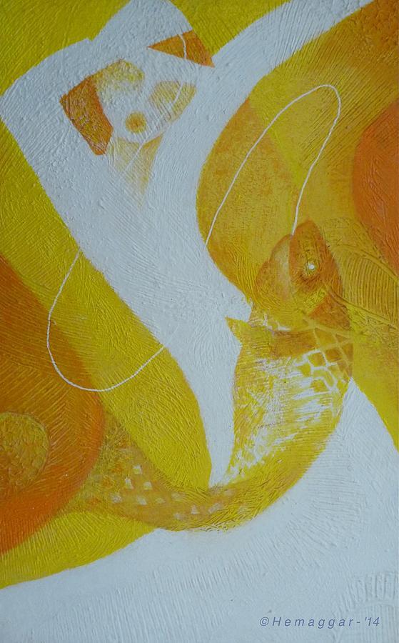 Fish Painting - Fishing Trip-pt.2 by Hemu Aggarwal