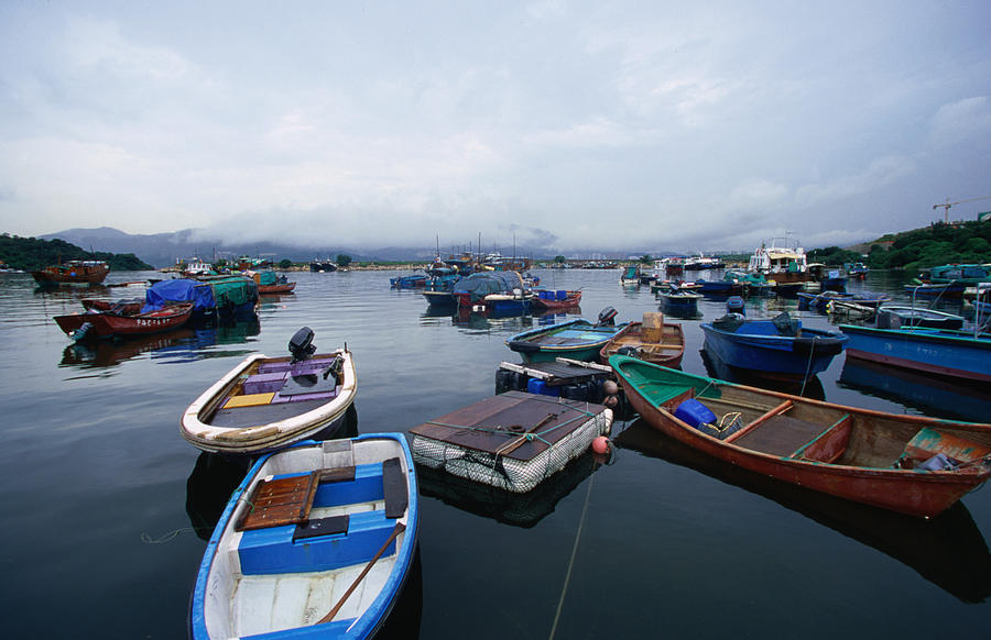Fishing Village In Sam Mum Chai, New Photograph by Oliver Strewe