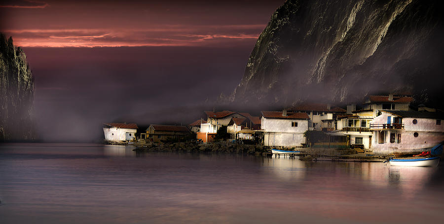 Village Photograph - Fishing Village by Radoslav Nedelchev