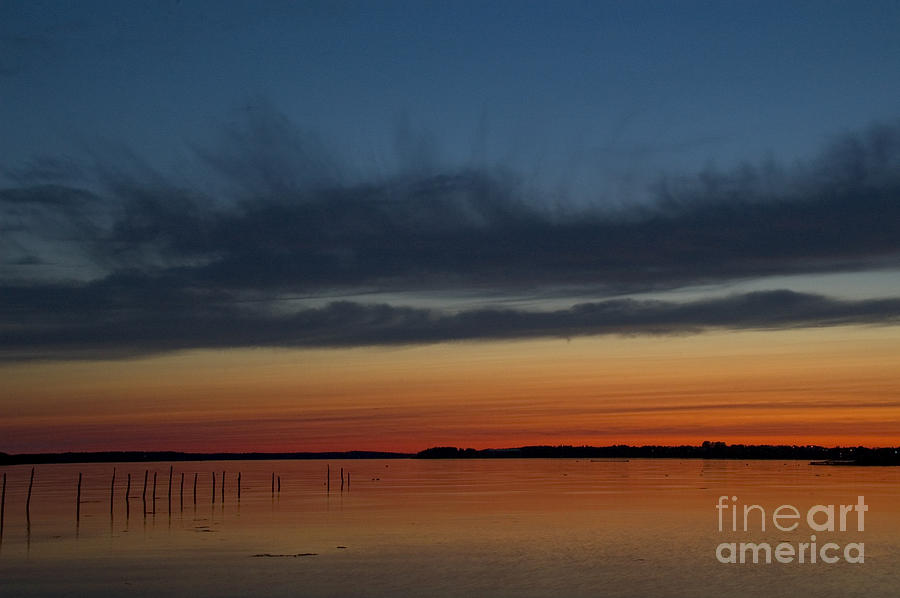 Sunset Photograph - Fishing Weirs  by Alana Ranney