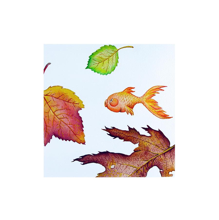Fish Painting - Fishsalad 4 by Laura Dozor