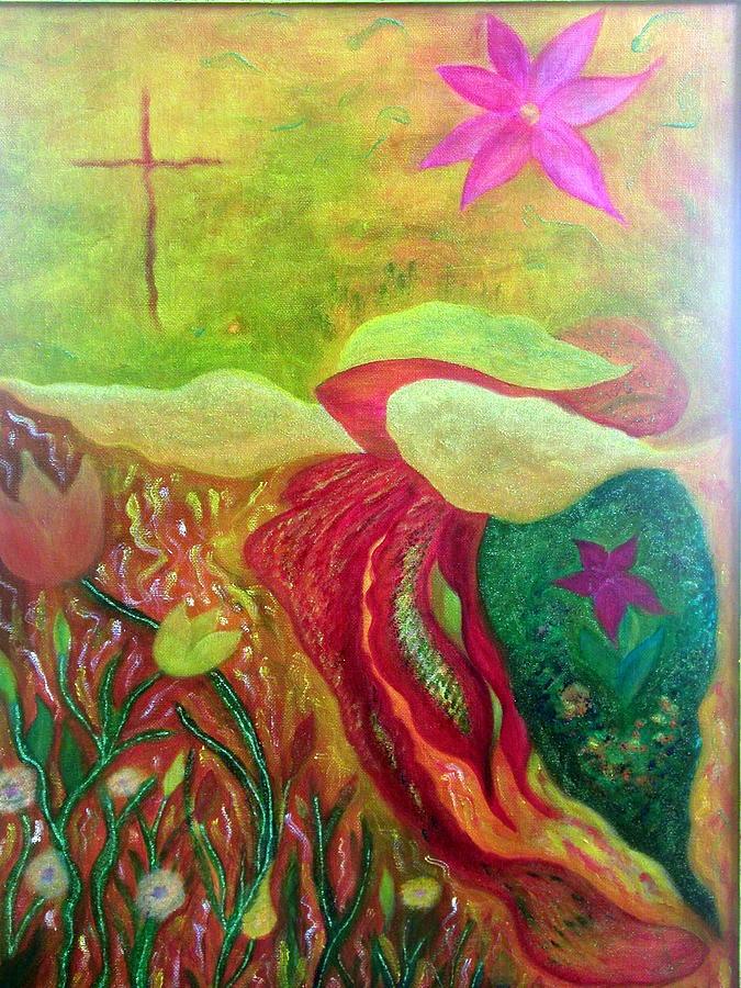 Cross Painting - Fishstiqueart 2010 by Elmer Baez