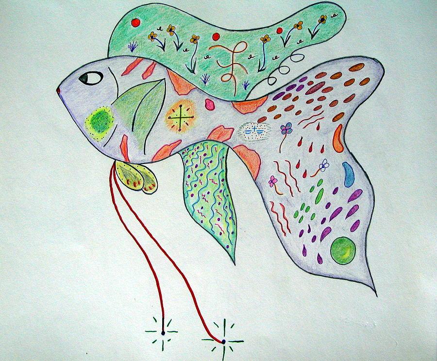 Aquaculture Drawing - Fishstiqueart 2009 by Elmer Baez