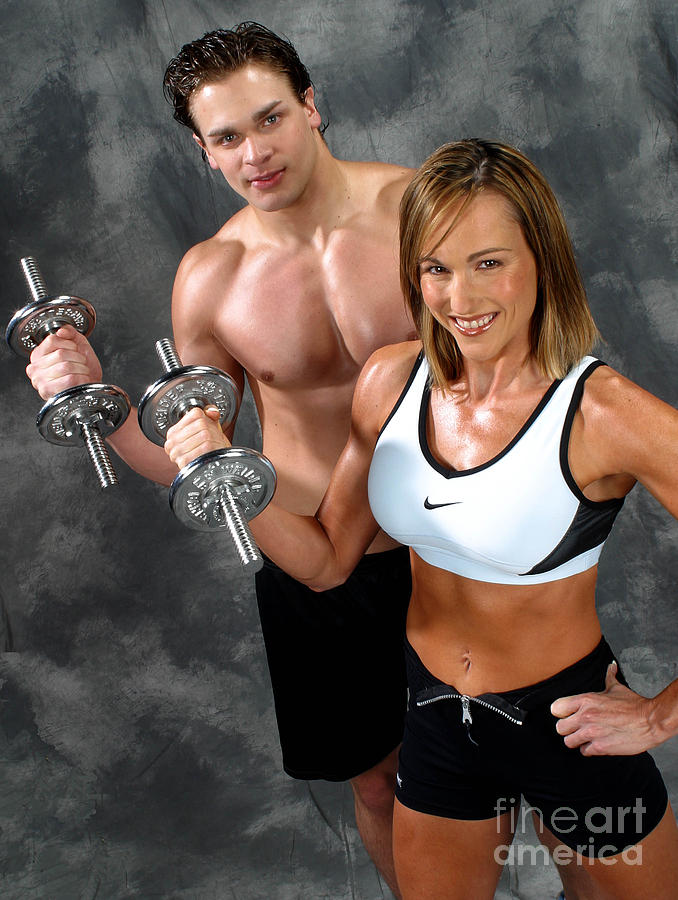 Model Photograph - Fitness Couple 17-2 by Gary Gingrich Galleries