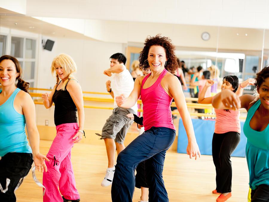 Fitness dance class Photograph by FatCamera