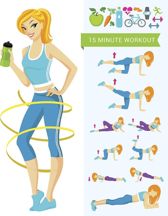 Fitness Workout Drawing by Artvea