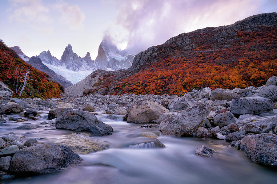 Argentina Photograph - Fitz Roy Under Twilight by John Fan