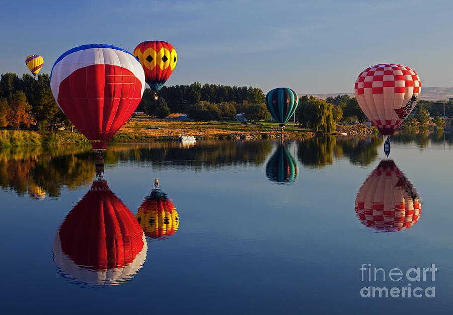 Balloons Photograph - Five Aloft by Mike  Dawson