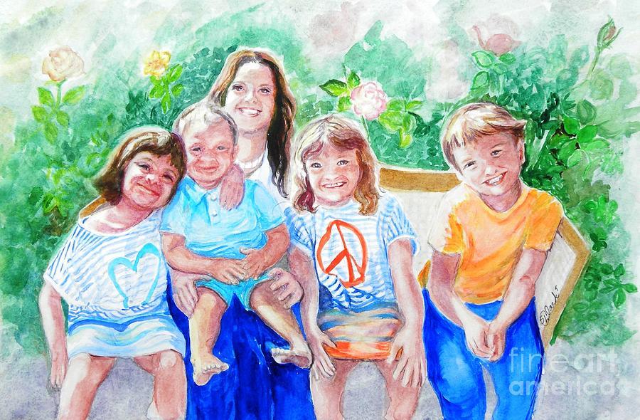 Five Cousins Painting by Susan  Clark