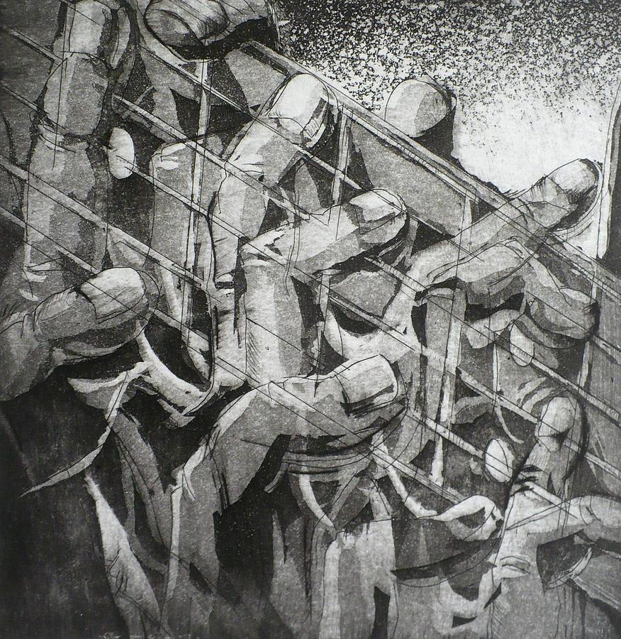 Surrealism Relief - Five Dancers by Chad Rice