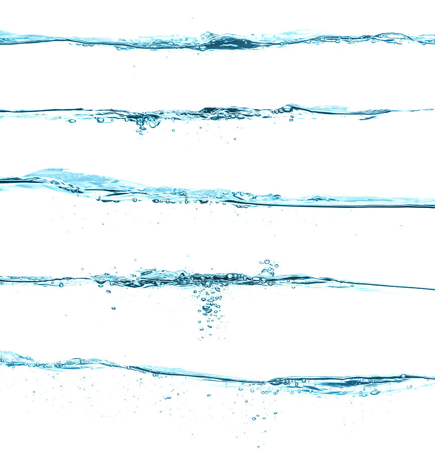 Five Different Blue Water Surfaces Photograph by Krystiannawrocki