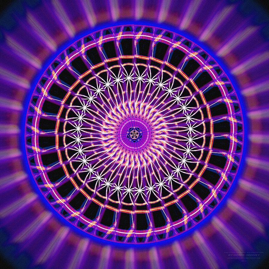 Sacred Drawing - Five Star Gateway Kaleidoscope by Derek Gedney