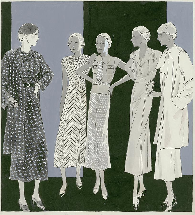 Five Women Digital Art by William Bolin