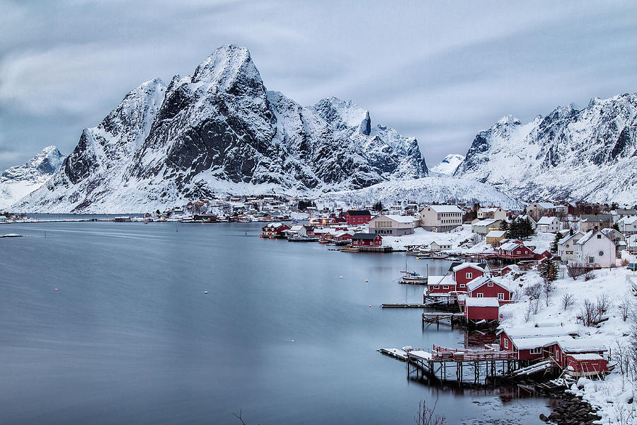 Fjord At City Reine, Lofoten, Norway Photograph by Daniel Osterkamp