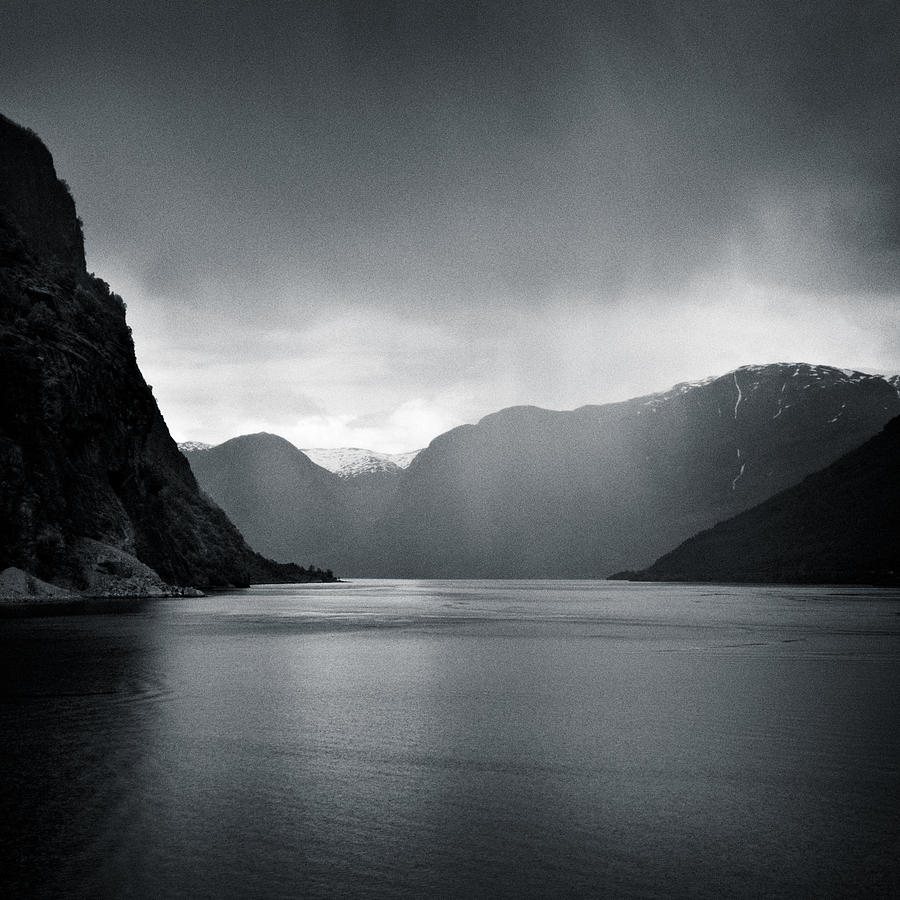 Norway Photograph - Fjord Rain by Dave Bowman