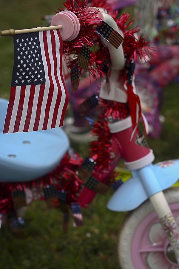 Patriotic Photograph - Flag Bike by Patrice Zinck