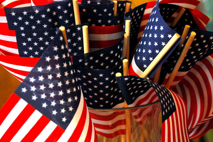 Flags Photograph - Flag Bouquet by Mamie Gunning