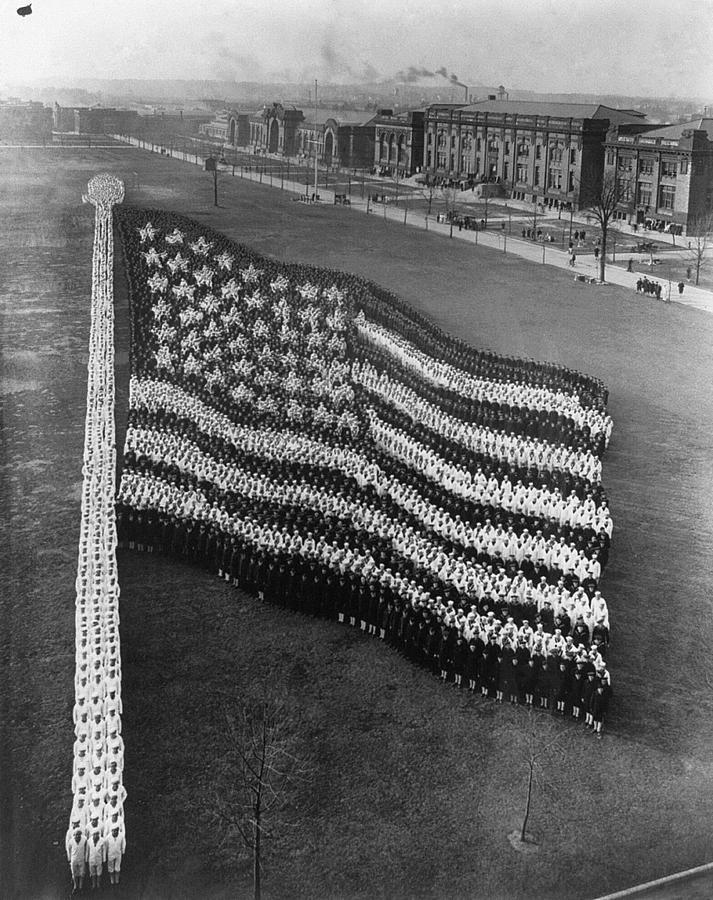 1917 Photograph - Flag Formation, C1917 by Granger