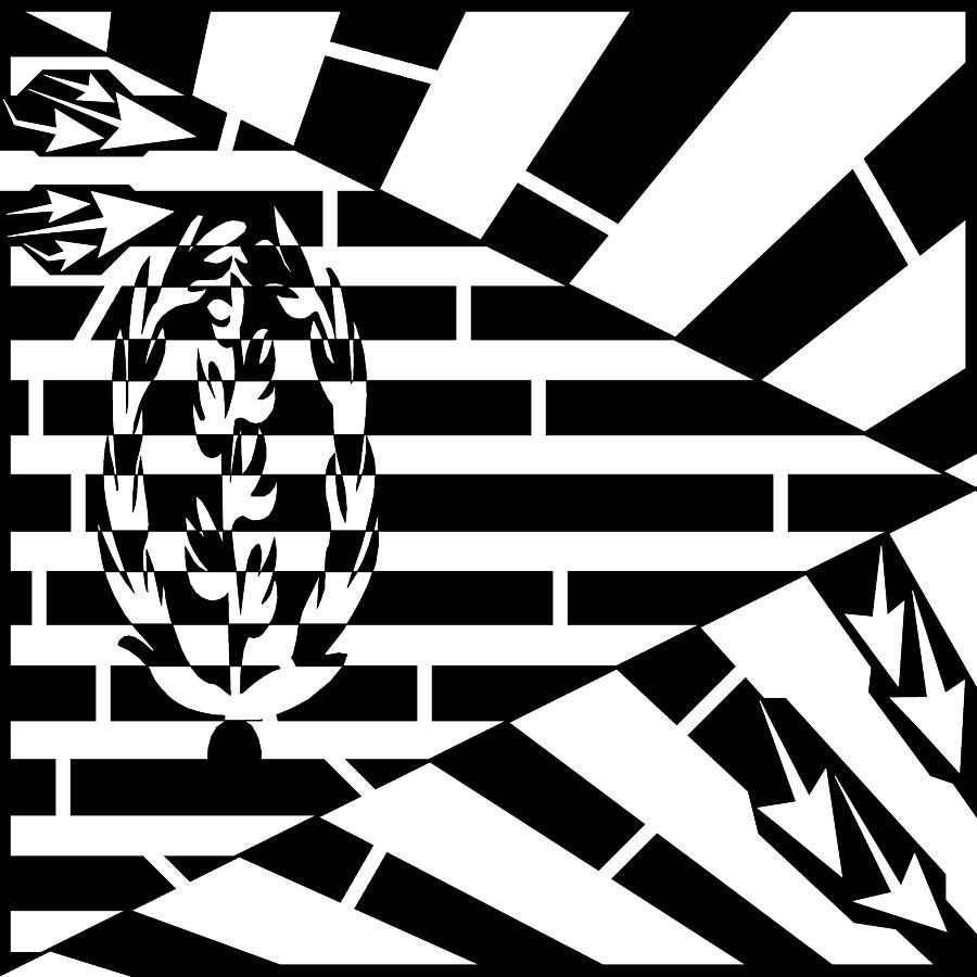 State Of Eritrea Drawing - Flag Of Eritrea Maze by Yonatan Frimer Maze Artist