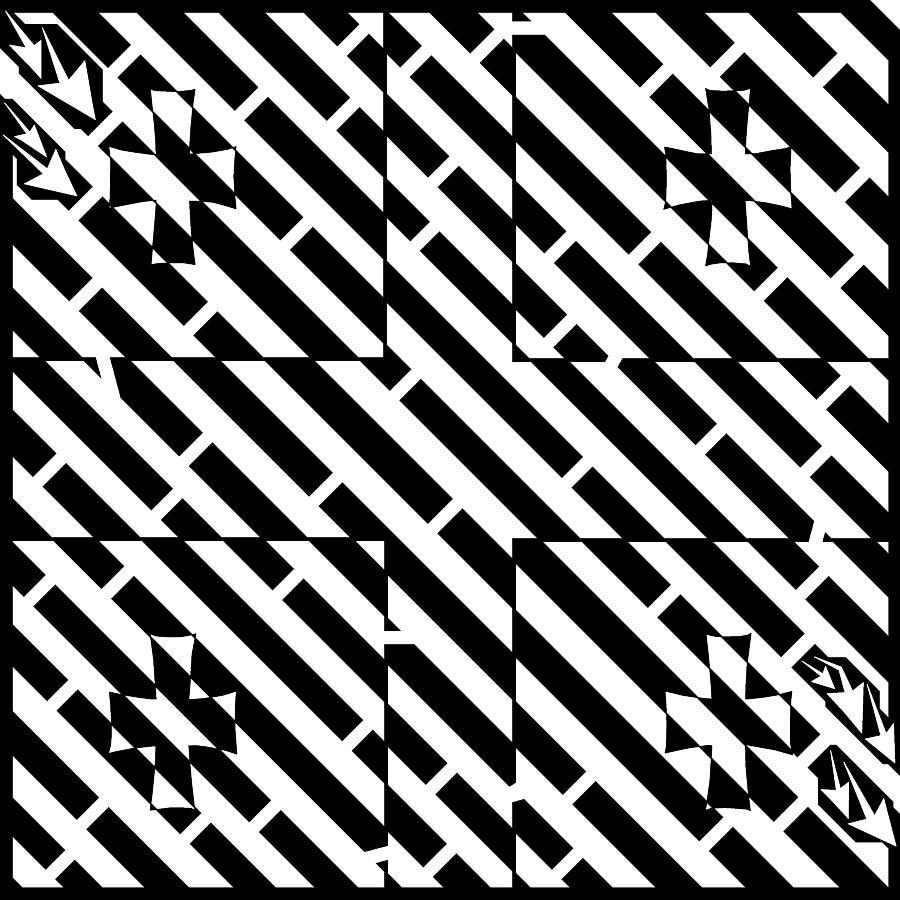 Georgia Drawing - Flag Of Georgia Maze  by Yonatan Frimer Maze Artist