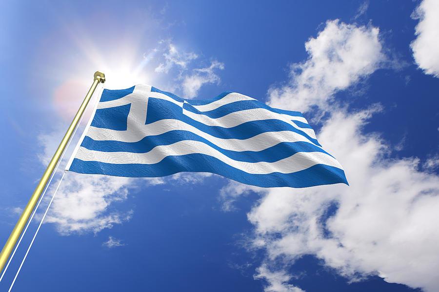 Flag of Greece Photograph by Kutay Tanir