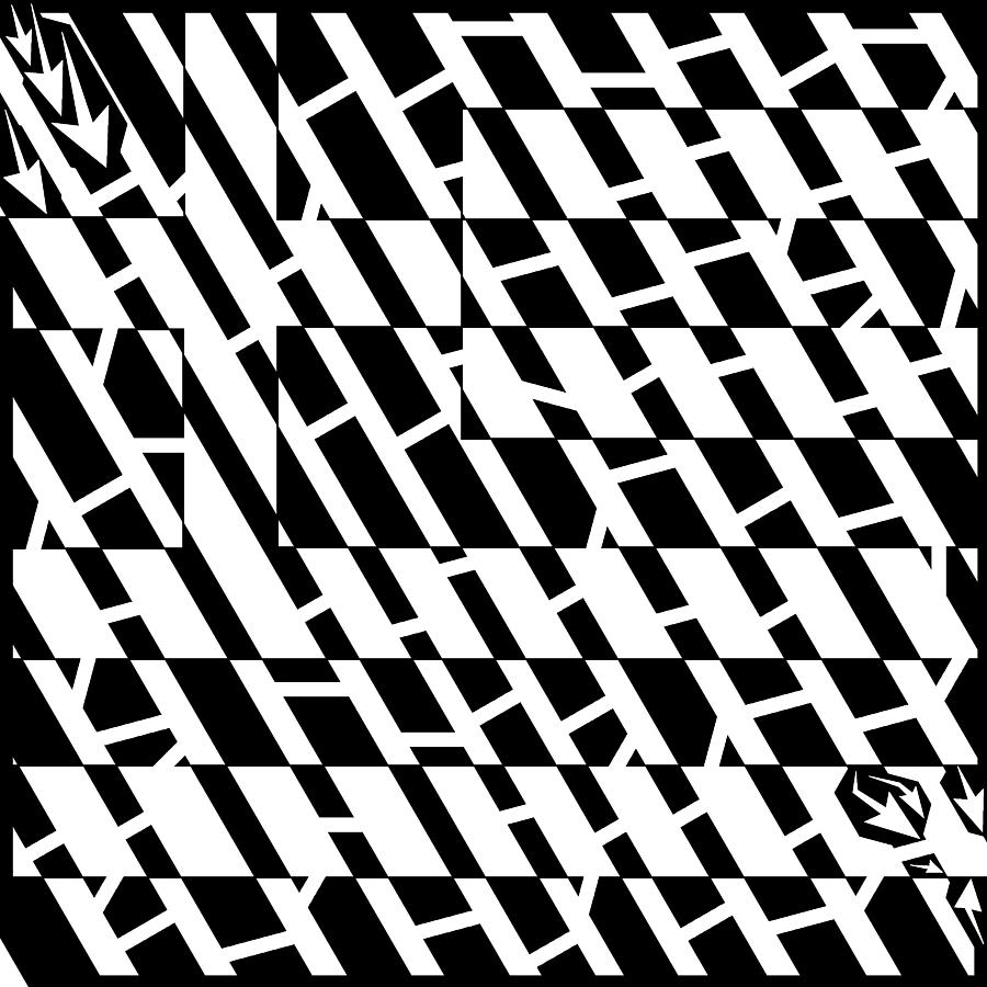Flag Photograph - Flag Of Greece Maze  by Yonatan Frimer Maze Artist