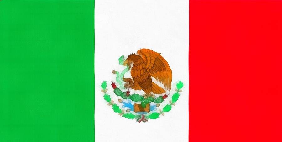 Flag Of Mexico Painting - Flag Of Mexico by Dan Sproul