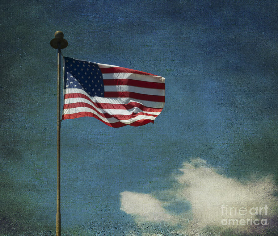 American Flag Photograph - Flag - Still Standing Proud - Luther Fine Art by Luther Fine Art