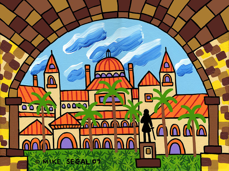 Flagler College Painting - Flagler College - St. Augustine by Mike Segal