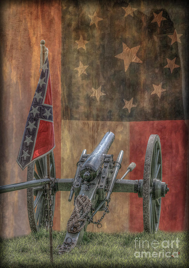 Flags Of The Confederacy Digital Art - Flags of the Confederacy by Randy Steele