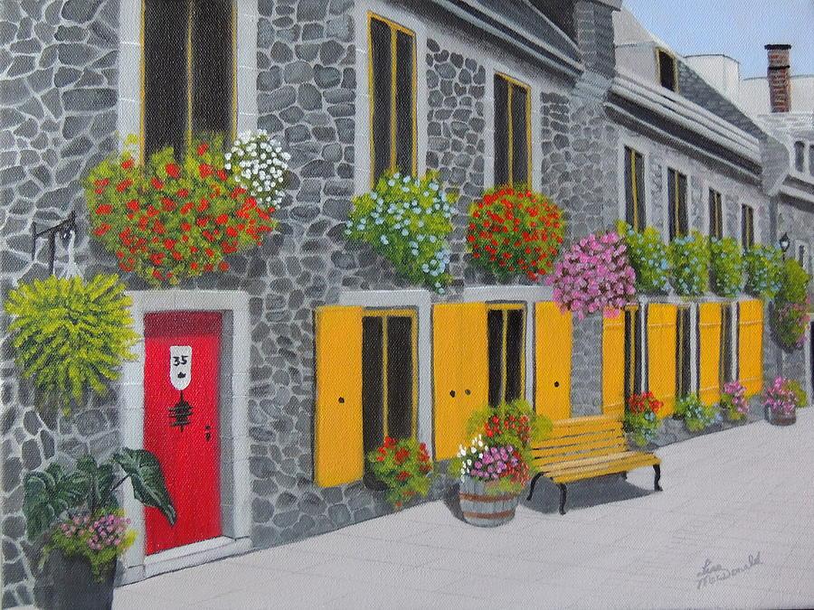Flagstone Painting - Flagstone Alley by Lisa MacDonald