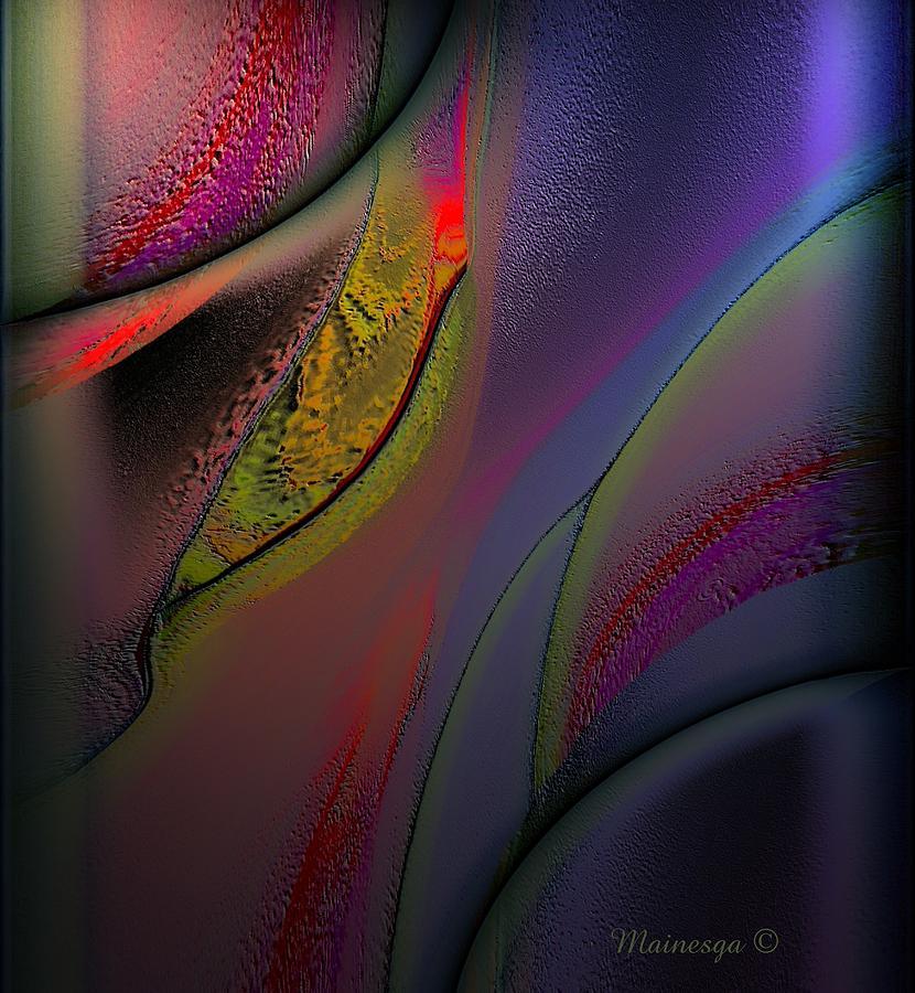 Digital Paint Digital Art - Flame-b by Ines Garay-Colomba
