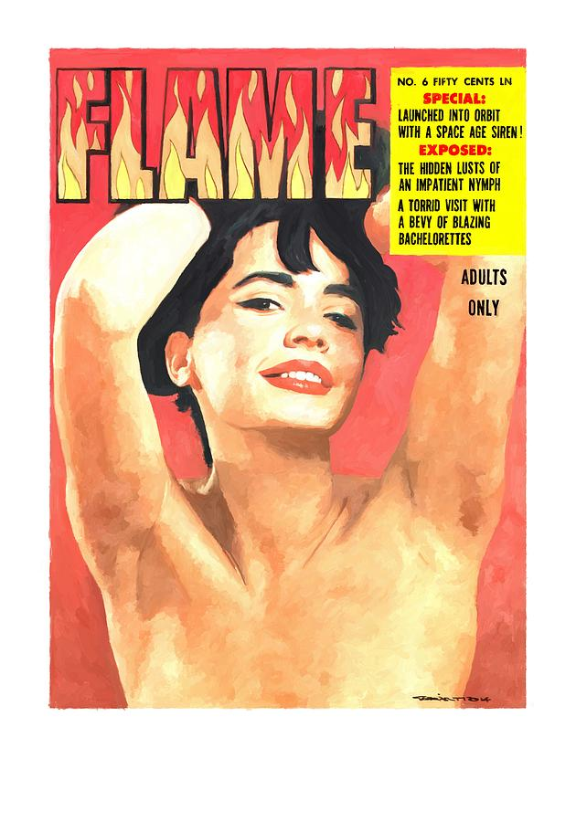 Flame Digital Art - Flame - Vintage Magazines Covers Series by Gabriel T Toro
