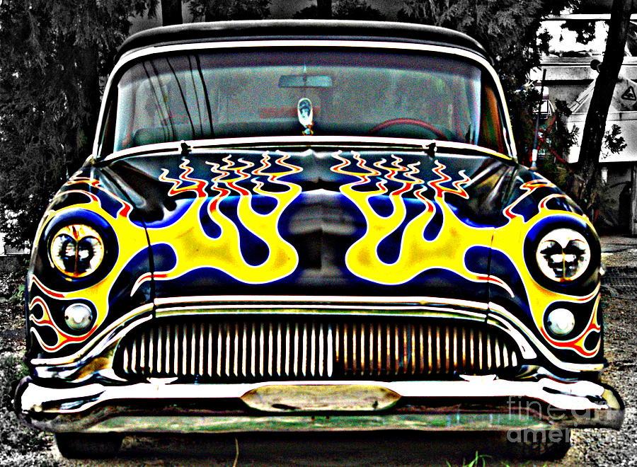 Car Photograph - Flamed by Thomas Chorbak