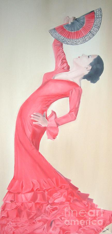 Woman Painting - Flamenco by Angela Melendez