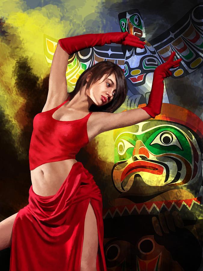 Jazz Painting - Flamenco Dancer 010 by Catf