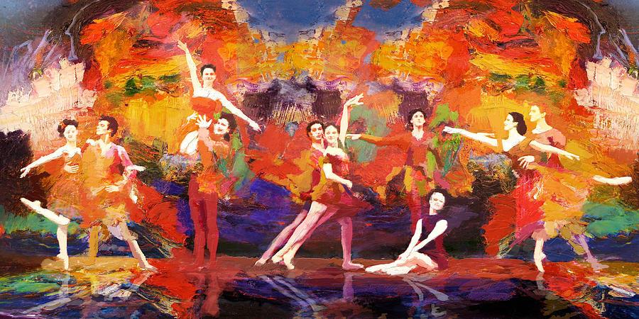 Jazz Painting - Flamenco Dancer 022 by Catf