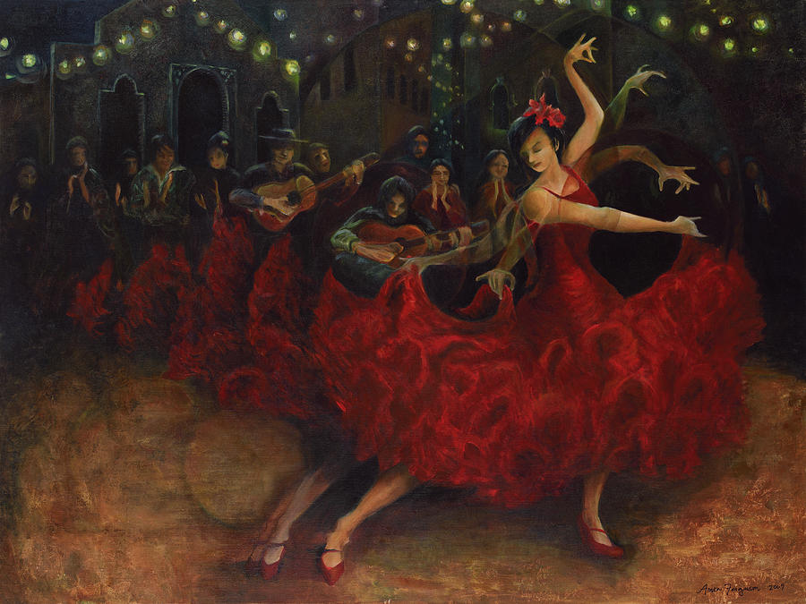 Flamenco Dancer Painting By Anika Ferguson