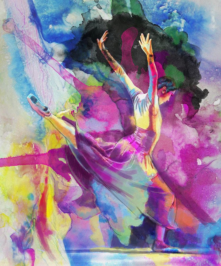 Jazz Painting - Flamenco Dancer by Catf
