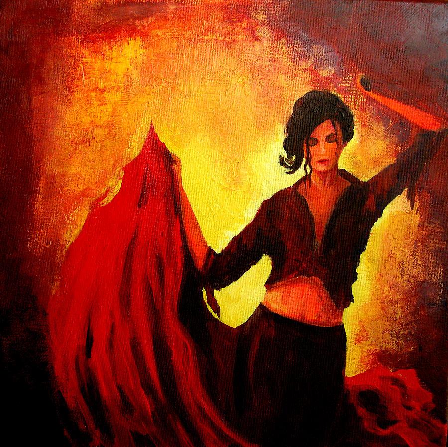flamenco dancer painting by patricia awapara