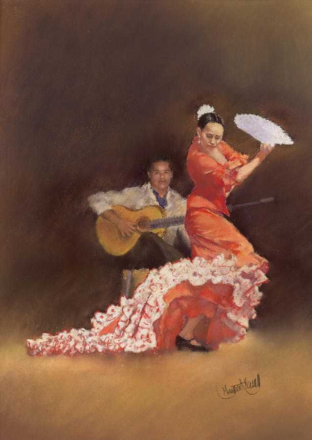 Flamenco Painting - Flamenco by Margaret Merry