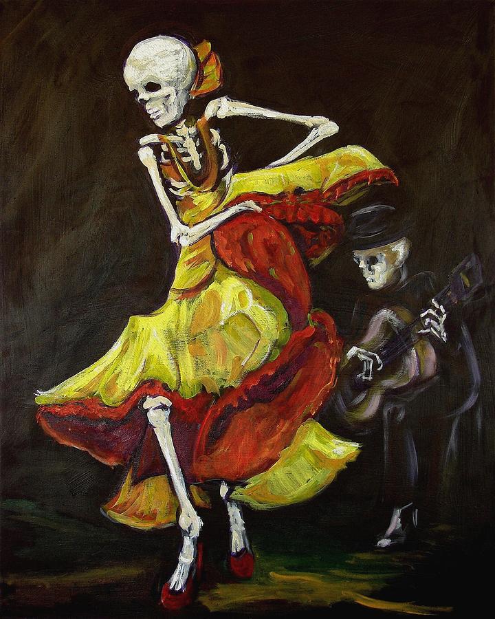 Muertos Painting - Flamenco Vi by Sharon Sieben