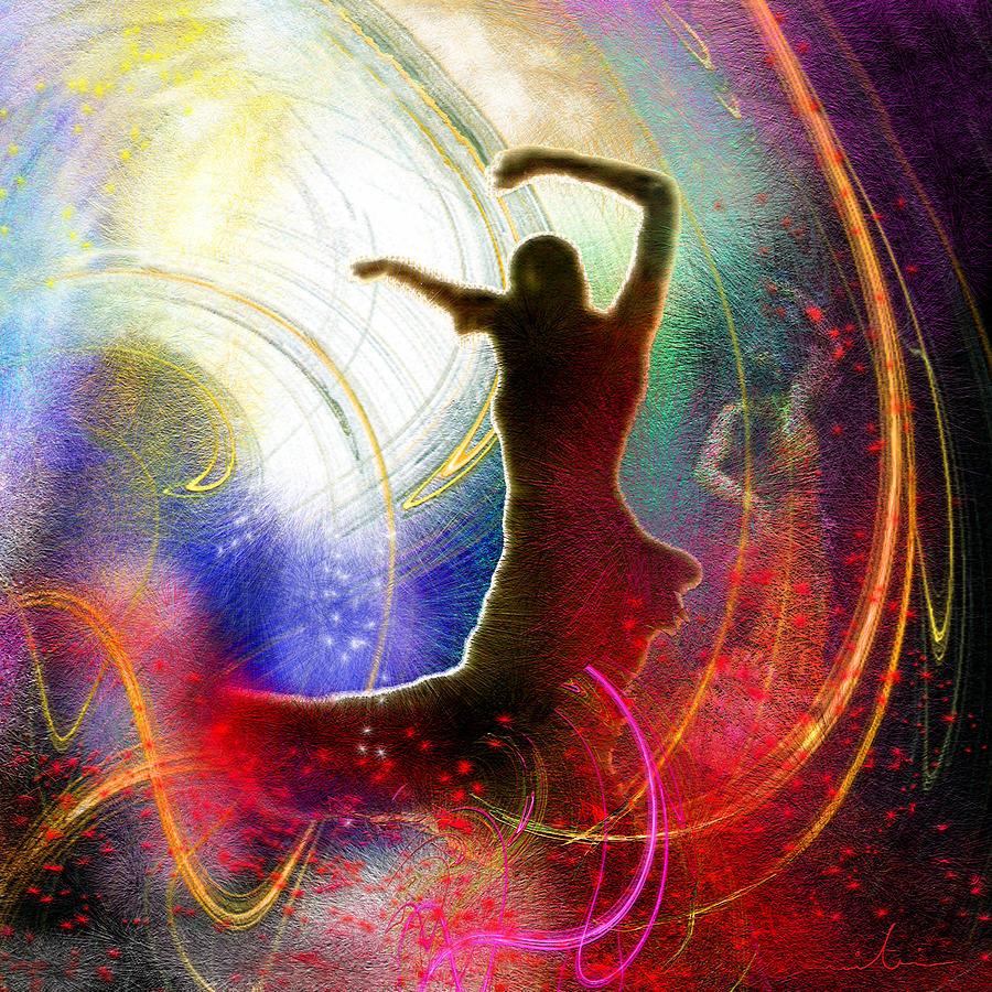 Flamenco Painting - Flamencoscape 16 by Miki De Goodaboom