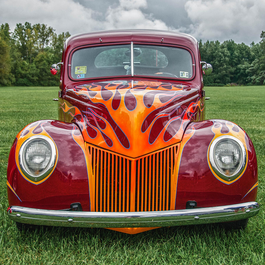 Automobile Photograph - Flames by Guy Whiteley